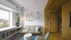 Jack Chen si vytvořil důmyslný interiér bytu s plochou jen 35 metrů