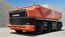 Scania AXL je autonomní nákladní automobil bez kabiny pro řidiče