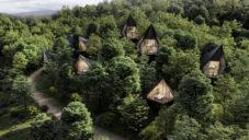 Peter Pichler postaví rekreační domy ve stromech bez dopadu na přírodu