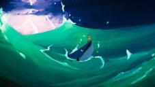 The Bird & the Whale je příběh animovaný starou technikou malby na sklo