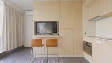 Malý modulární byt v Antverpách má jen 25 metrů čtverečních