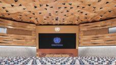 Wood-Skin obložili dřevem zasedací halu Organizace spojených národů