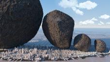 Animátor porovnal velikosti asteroidů s člověkem i planetou Země