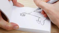 Boku vytvořilo šestici flipbooků z teček a čar pro snadné domácí animování