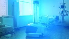 UV Disinfection Robot jezdí po nemocničních pokojích a dezinfikuje je