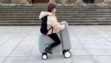Japonští studenti navrhli plně funkční nafukovací skútr Poimo