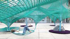 High Museum má na nádvoří síťovou instalaci připomínající mračna