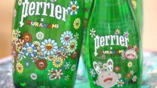Takashi Murakami ozdobil láhve vody Perrier svými barevnými kresbami