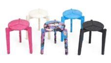 Jihokorejský student recykluje vyhozené jednorázové roušky na stoličky