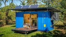 Český soběstačný domek Gaia je vyroben z vyřazeného námořního kontejneru