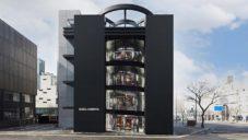 Jen Nouvel postavil minimalistický černý butik pro Dolce & Gabbana