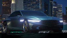 Genesis ukázal koncept futuristického Gran Turismo s efektními světlomety