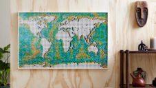 Lego Art přichází s velkou mapou světa World Map s 11 695 dílky