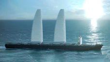 Nafukovací plachty Wisamo pro nákladní lodě ušetří 20 procent paliva