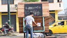 El Ambulantito je miniaturní domek na kolech pro lidi bez domova