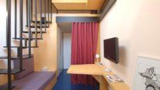 Chambre De Bonne je miniaturní byt v Miláně o velikosti 14 metrů čtverečních